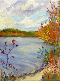 Lake Landscape Oil Painting Original Fine Art