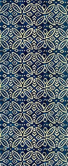 Indigo blue batik pattern