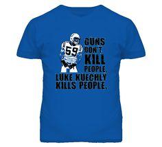 awesometshop - Luke Kuechly Carolina Football Boston Linebacker Defence T Shirt