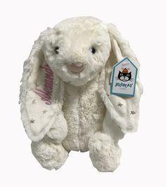 Namely Newborns - Twinkle Bunny | Bashful Jellycat Bunny With Stars, $22.95 (https://www.namelynewborns.com/twinkle-bunny-bashful-jellycat-bunny-with-stars/)
