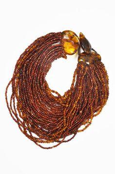 Monies amber bead necklace - amber