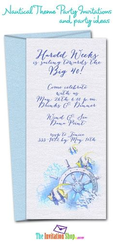 Nautical Themed Invitations | Nautical Theme Party Invitations and Party ... | Birthday Parties & S ...