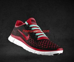the latest ae565 6e270 Wholesale Mens Nike Free 3.0 V4 Black Gym Red Wolf Grey Tropical Blue Lace  Shoes
