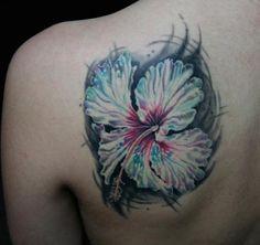 40 Magnificent Hibiscus Flower Tattoos | Showcase of Art & Design