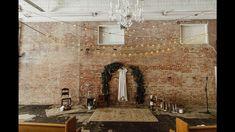Industrial wedding ceremony simple elegant style Spruce Pine, NC