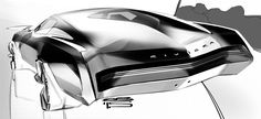 Car design sketches #6 on Behance