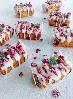 Raspberry, Orange and Poppyseed Cakes