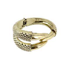 BMC Womens Gold Colored Talon Claw Spring Closure Fashion Cuff Bangle Bracelet #Cuff