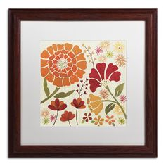 'Spice Garden II' by Veronique Charron Framed Painting Print