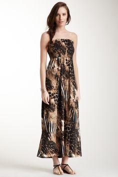 She's Cool Strapless Smocked Maxi Dress on HauteLook