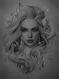 Alex Sorsa added a new photo. Pencil Art Drawings, Art Drawings Sketches, Tattoo Drawings, Body Art Tattoos, Desenho New School, Arte Cholo, Portrait Art, Portrait Tattoos, White Art