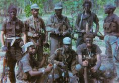 The Terrible Ones Battalion) in Angola Military Life, Military History, Brothers In Arms, Defence Force, War Photography, Troops, Soldiers, African History, Special Forces