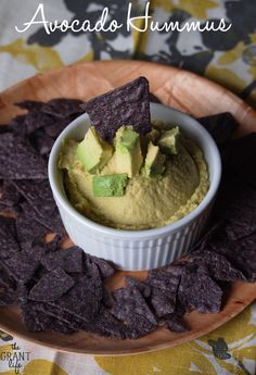 Avocado Hummus!  So easy and so good!  #avocado #recipe #hummus