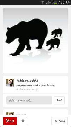 Mama bear with cubs tattoo
