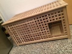 """Homemade litter box Ikea """"Hol"""" THE solution to the beach problem! Ikea Hol, Hiding Cat Litter Box, Litter Box Covers, Indoor Rabbit, Bunny Cages, Cat Toilet, Cat Room, Bunny Room, Rabbit Hutches"""