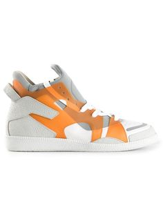 Shop Maison Martin Margiela geometric panelled sneakers in Hirshleifers  from the world s best independent boutiques at 1bbae317ba3