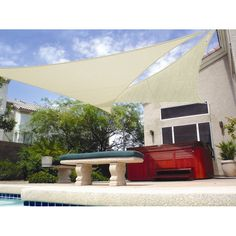 Gale Pacific Gale Pacific USA California 9ft. x 15ft. x 12ft. Triangle Shade Sail & Reviews | Wayfair