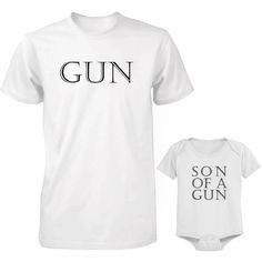 Daddy and Baby Matching T-Shirt and Onesie Set - Gun and Son of A Gun