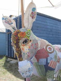 Flossie Donkey Bryony Rose Textile Menagerie