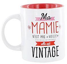 Un mug pour la meilleure mamie du monde! Cadeau d'anniversaire original pour Grand-mère ou idée cadeau pour la Fête des grands-mères. #cadeaugrandmère #cadeaumamie #cadeau #vintage