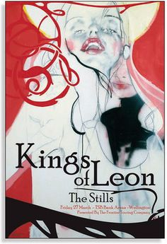The Kings of Leon Concert Poster  at TSB Bank Arena- Wellington, New Zealand  Mar 27, 2009  printed on nice heavy paper stock  poster measures 18.25 inches x 26.75 inches   limited edition  artist:  Jeremy Piert
