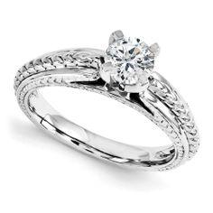 Platinum Engagement Polished Mounting