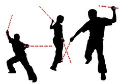 silhouette stick fighting - Google Search