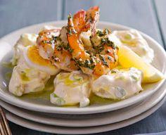 BBQ prawn and potato salad