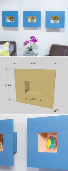 Everyone has some special small items that they'd love to display. That can be challenging, though, since small pieces tend to get lost on shelves. These shadow boxes offer a dramatic way to display these special items while adding some style to any wall. FREE PLANS at buildsomething.com