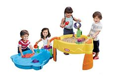 Young treasure seekers have an exciting new activity table loaded with tons of different ways to play! Introducing the Treasure Hunt Sand and Water Table by Little Tikes! Sift through sand to find the...