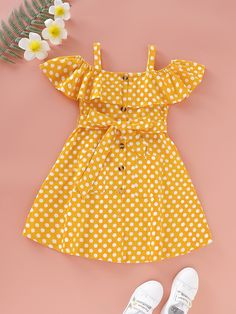 Kids Dress Wear, Kids Outfits Girls, Little Girl Outfits, Girls Fashion Clothes, Toddler Girl Dresses, Kids Fashion, Toddler Girls, Cute Toddler Girl Clothes, Toddler Fashion