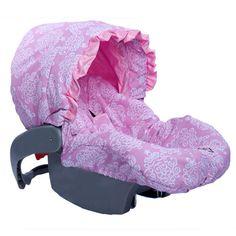 Pink Bella Infant Car Seat Cover-pink bella infant car seat cover,baby car seat cover,replacement cover for baby car seat,baby girl car seat...