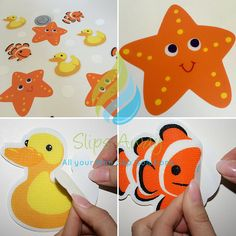 Item Anti-Slip Octopus Childrens Bath Tub Applique with Suction Cup Bottoms Set of 4 Assorted Colors
