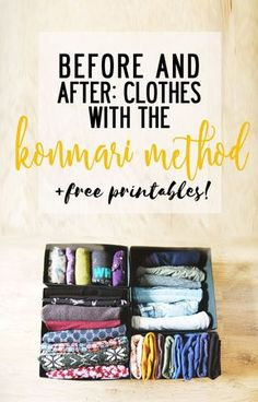 The KonMari Method Clothes - before and after - Finding North