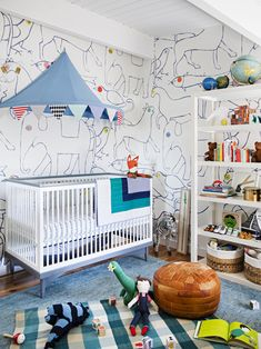 fun nursery by Emily Henderson
