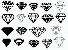 Diamond svg - Diamond vector - Diamond silhouette - Diamond digital clipart for Design or more, file Small Diamond Tattoo, Diamond Tattoo Designs, Diamond Tattoos, Diamond Drawing, Diamond Art, Diamond Design, Hand Tattoos, Small Tattoos, Tattoos For Guys
