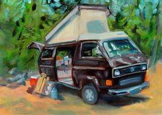"""Packing Up"" - Original Fine Art for Sale - © Cietha Wilson"