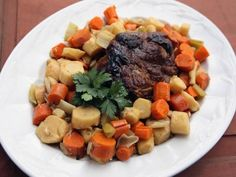 Pork Pot Roast with Root Vegetables Recipe : Nancy Fuller : Food Network Top Recipes, Beef Recipes, Cooking Recipes, Entree Recipes, Cooking Stuff, Amazing Recipes, Cooking Ideas, Yummy Recipes, Pork Pot Roast