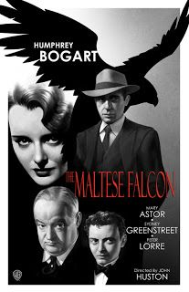The Maltese Falcon Classic Movie Poster John Huston Humphrey Bogart Bogie Film Noir Old Movie Posters, Classic Movie Posters, Cinema Posters, Movie Poster Art, Classic Movies, Classic Film Noir, Humphrey Bogart, Maltese Falcon Movie, Bogart Movies