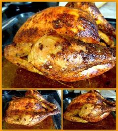 Roasted chicken recipe as a rotisserie: the easy recipe - Recipes Easy & Healthy Best Roast Chicken Recipe, Best Roasted Chicken, Lemon Garlic Chicken, How To Cook Chicken, Boneless Chicken Breast, Food Porn, Food And Drink, Easy Meals, Cooking Recipes