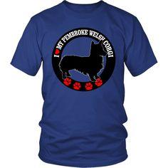 """I Love My Pembroke Welsh Corgi"" T-Shirt"