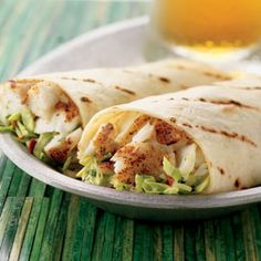 Baja Fish Wraps with Chipotle-Lime Slaw