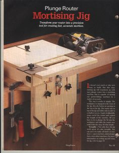 mortising jig | Thread: Mortise and tenon fixture using router