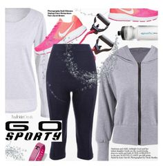 """""""Go Sporty"""" by pokadoll ❤ liked on Polyvore featuring Hedi Slimane, NIKE, polyvoreeditorial and polyvoreset"""