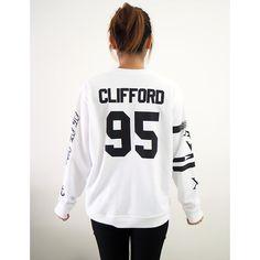 Michael Clifford Tattoos Sweater Sweatshirt Crew Neck Shirt Add... ($28) ❤ liked on Polyvore featuring tops, hoodies, sweatshirts, crew-neck sweatshirts, white shirt, white sweatshirt, shirt tops and white crewneck sweatshirt