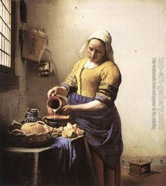 Jan Vermeer : The Milkmaid