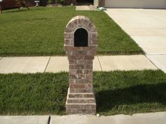 The Best Brick Mailbox Designs For Your Home Add Planter to Right Side Similar Style