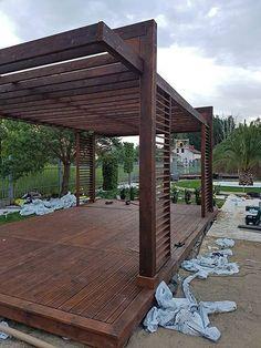 DESIGNERSKA NOWOCZESNA ALTANA ALTANKA WIATA GRILL - 7092561829 - oficjalne archiwum Allegro Modern Gazebo, Modern Backyard, Backyard Pavilion, Home Landscaping, Garden Spaces, Patio Design, Outdoor Structures, Landscape, Grill