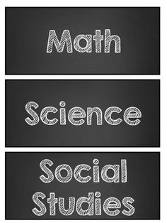 Free Chalkboard Daily Objective Subject Area Labels - Freebie