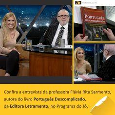 """Livro """"Português Descomplicado"""", da professora Flávia Rita, pela Editora Letramento."""